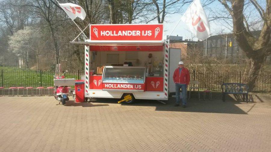IJskraam Hollander ijs, stadspark, Groningen
